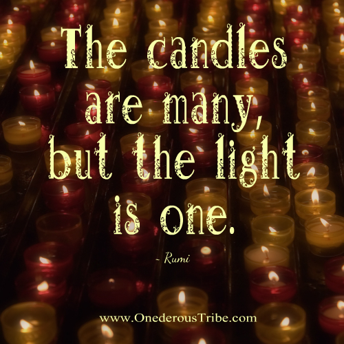The Candles Are Many the Light is One Inspirational Quotes