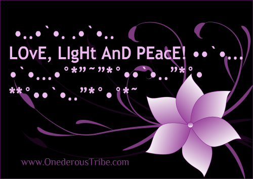 Love Light and Peace Inspirational Sayings