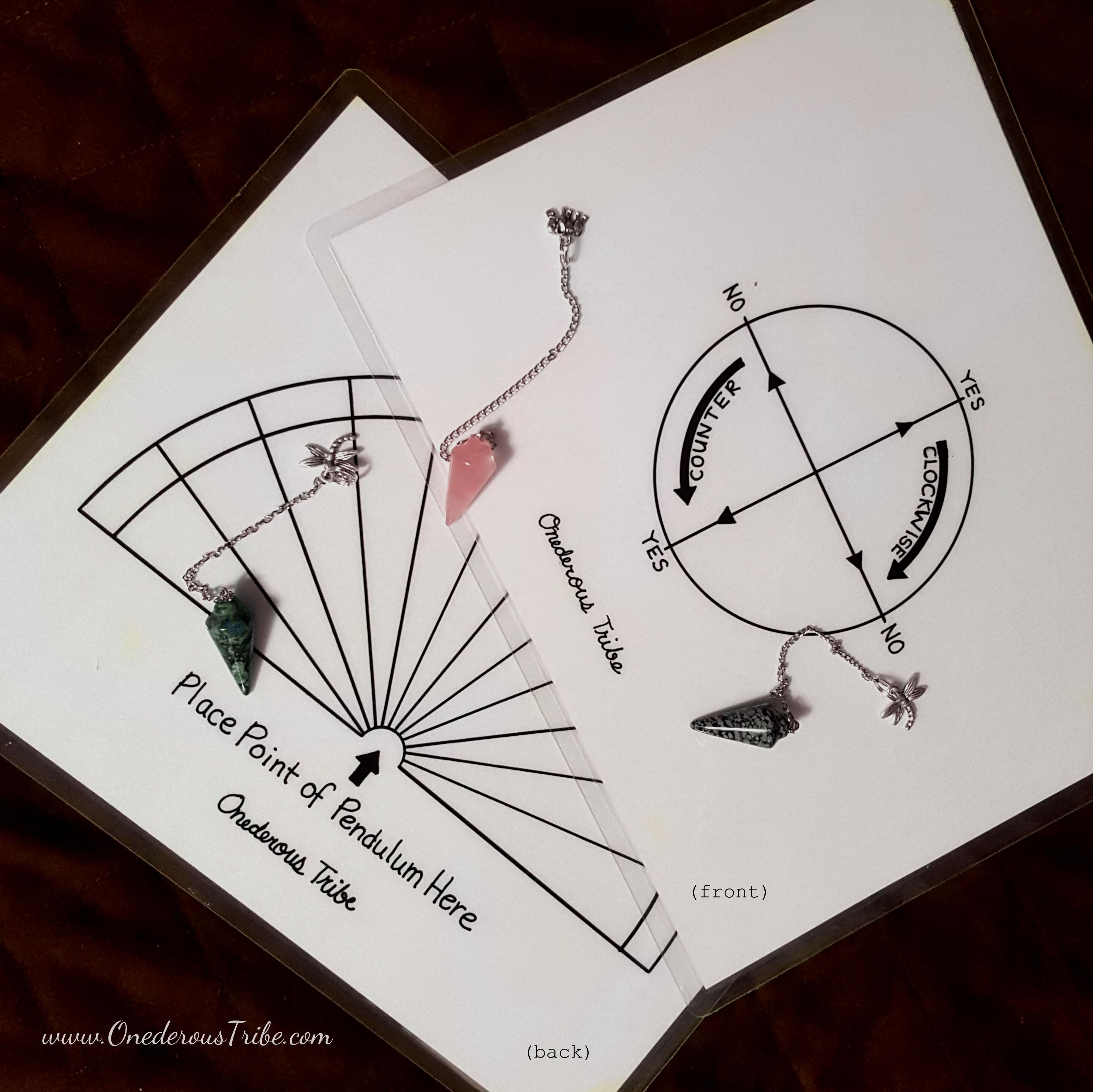 Laminated Pendulum Chart and Pendulum Image